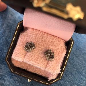 Juicy Couture crown earrings, NEW NIB